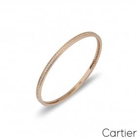 Cartier Rose Gold Diamond Bangle